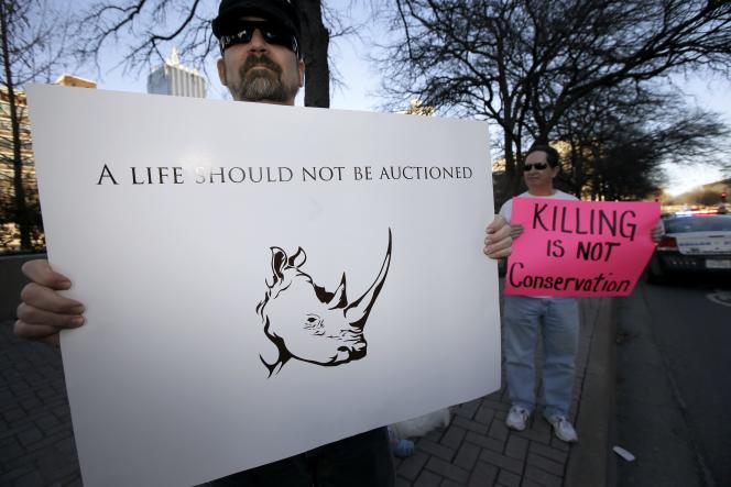 Les associations de défense des animaux jugent l'opération du Dallas Safari Club immorale.