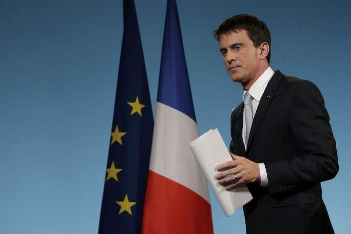 Manuel Valls à Matignon, le 29 mars.