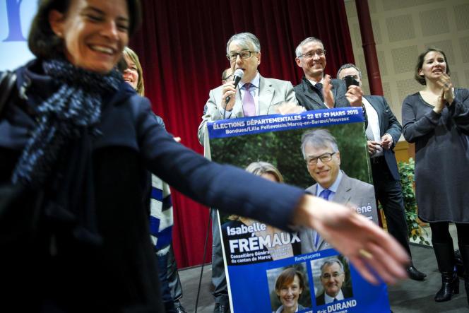 Jean-René Lecerf, probable futur président du conseil général du Nord, dimanche 29 mars à Lille.