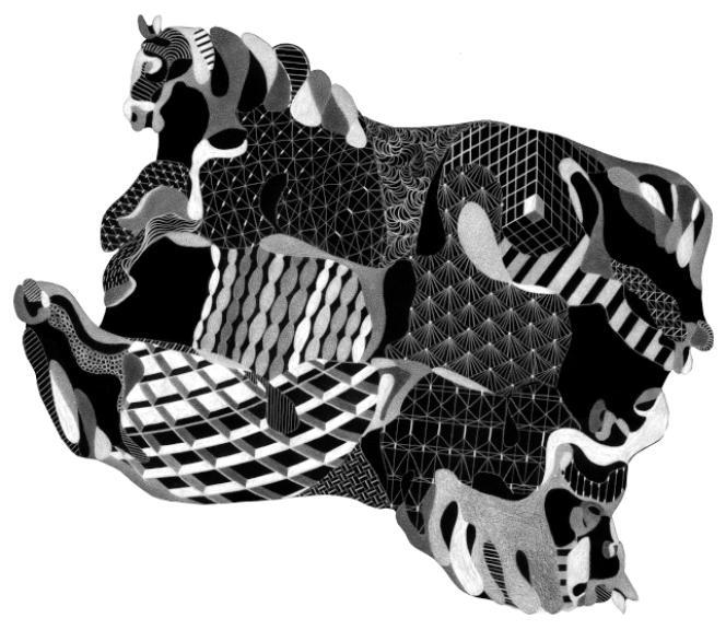 Le tapis, créé par Philippe Baudelocque pour Chevalier Edition.