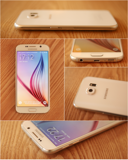 Le Galaxy S6 blanc.