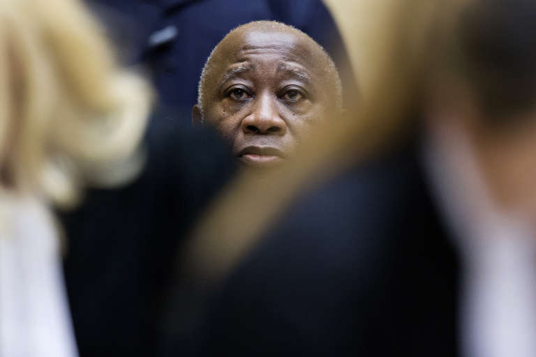 Laurent Gbagbo, en février 2013 à La Haye.