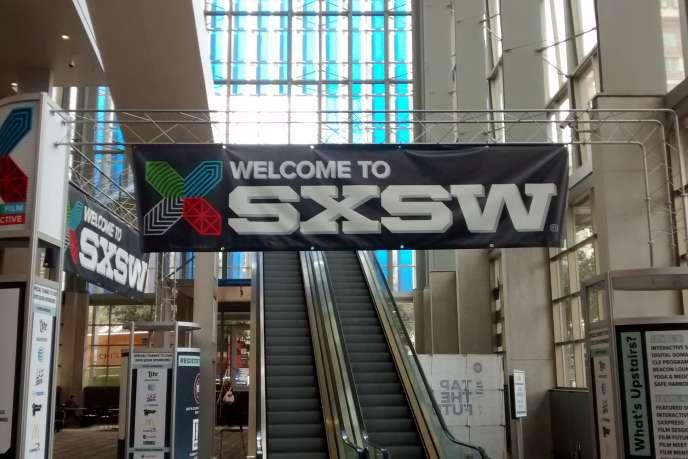 L'entrée de South By SouthWest, à Austin (Texas).
