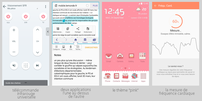 Samsung joue les « Monsieur plus », notamment avec ses thèmes colorés.