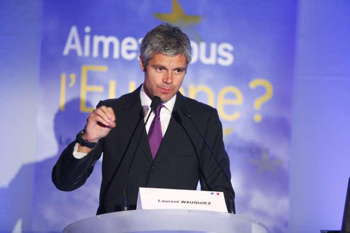 Laurent Wauquiez, lors d'un colloque sur l'Europe organisé par le think tank Fondapol, le 9 mai 2011.