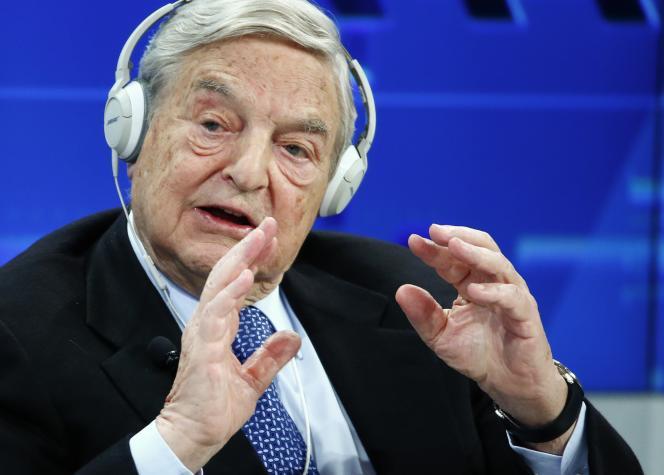 Georges Soros au Forum de Davos, en Suisse, en janvier 2015.