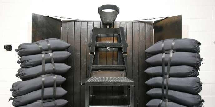 Chambre d'exécution par peloton en Utah, qui vient de rétablir ce moyen de mise à mort.