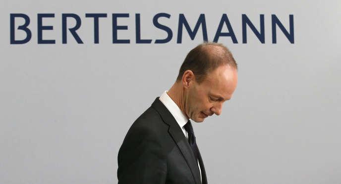 Thomas Rabe, PDG de Bertelsmann, à la conférence annuelle de son groupe, à Berlin, en 2013.