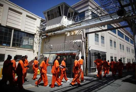 Des détenus à la prison de San Quentin, en Californie, le 8 juin 2012.