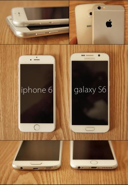 Le Galaxy S6 et l'iPhone 6.