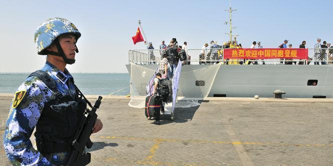 Une partie des ressortissants chinois ont été évacués d'Aden.