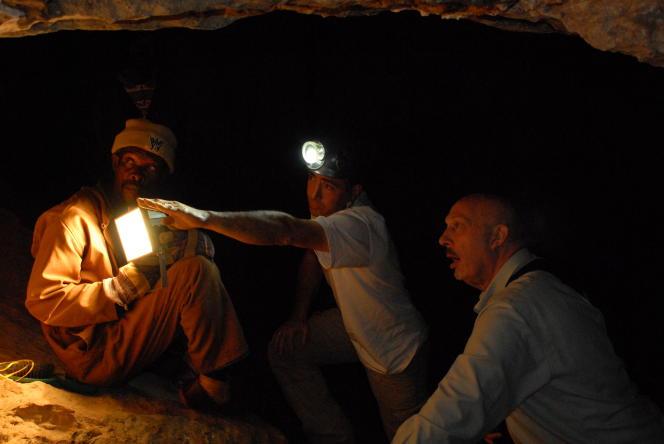 Dans la grotte Silberberg à Sterkfontein (Afrique du Sud), où le fossile