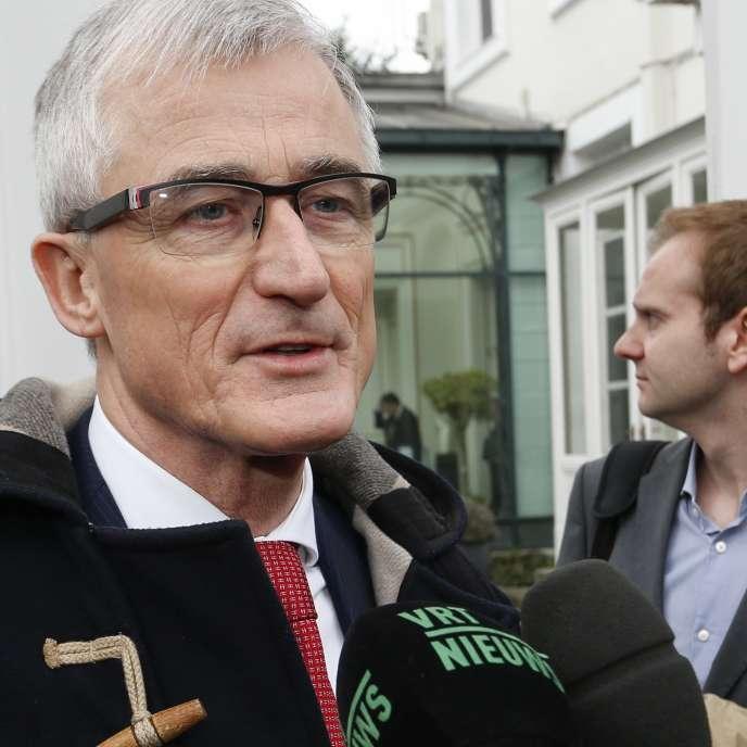 Le ministre-président de la Flandre, Geert Bourgeois, à Bruxelles, le 1er avril.