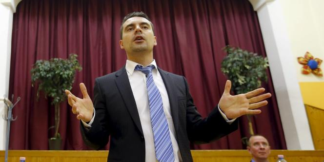Gabor Vona, le leader deJobbik, le parti d'extrême droite hongrois.