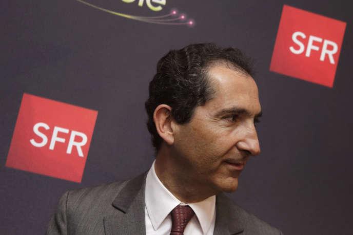 Patrick Drahi, le patron du groupe de télécoms Altice et de SFR-Numericable,  le 7 avril 2014 à Paris.