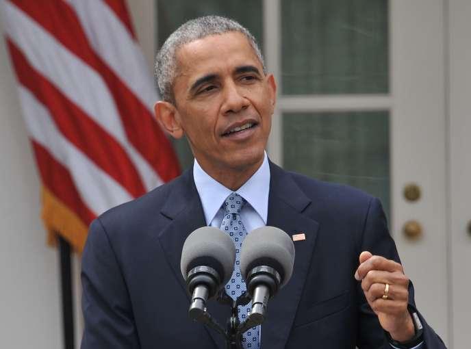 Le président américain a salué jeudi soir la conclusion d'une « entente historique qui, si elle est pleinement appliquée, empêchera [l'Iran] d'obtenir l'arme nucléaire ».