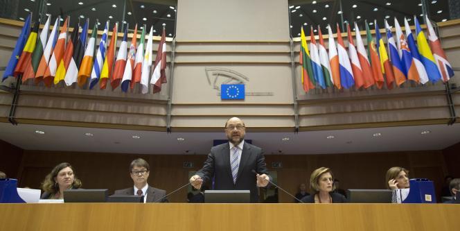 Le président du Parlement européen, Martin Schulz, le 25 mars.