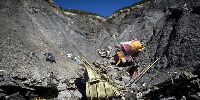 Sur le site du crash de l'A320 de Germanwings.