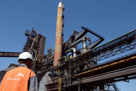 L'usine d'Arcelor Mittal à Fos-sur-Mer (Bouches-du-Rhône).