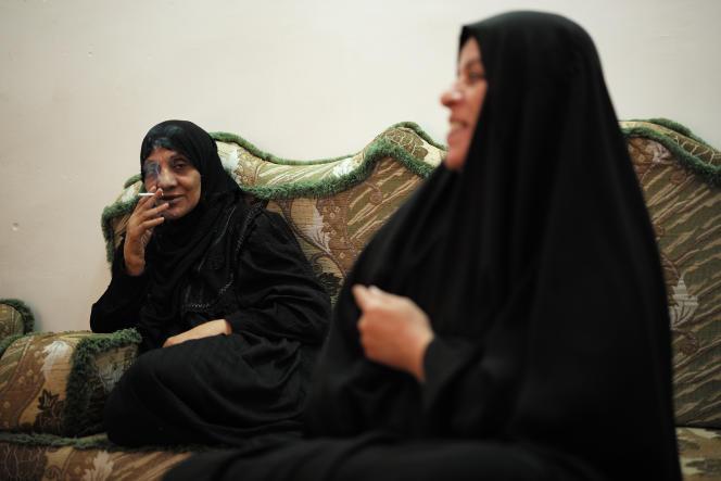 Khadrya, habitante du quartier chiite Kadhamya à Bagdad,  où des attentats ont visé la mosquée  Al-Kadamya.