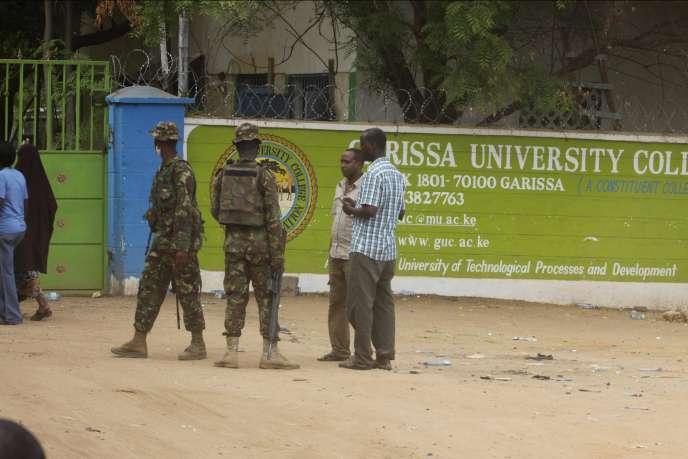 A l'aube du 2 avril 2015, quatre assaillants avaient pénétré l'enceinte de l'université de Garissa (Kenya).