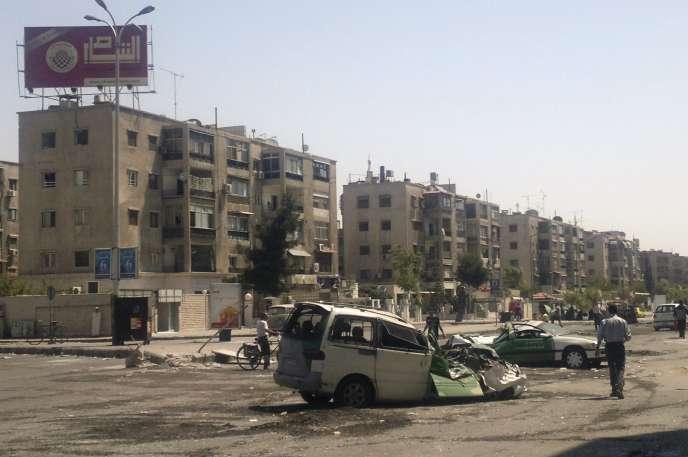 Après des combats entre rebelles syriens et militaires dans le camp de Yarmouk, en 2012.