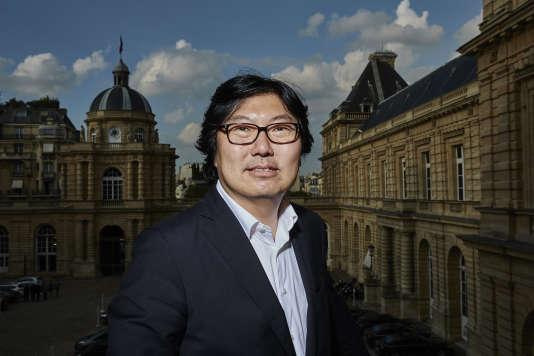 Jean-Vincent Placé , sénateur EELV de l'Essonne, au Palais du Luxembourg, le 30septembre 2014.
