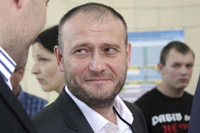 Dmytro Iaroch, le chef du groupe ultranationaliste ukrainien Pravy Sektor, le 25 mai 2014.