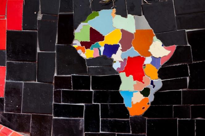 Une carte de l'Afrique.