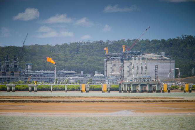 Le terminal gazier du port de Gladstone, dans le Queensland.