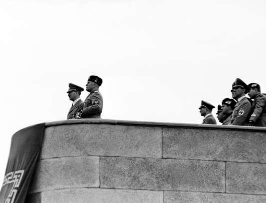 Benito Mussolini (à droite) et Adolf Hitler à Rome le 3 mai 1938.