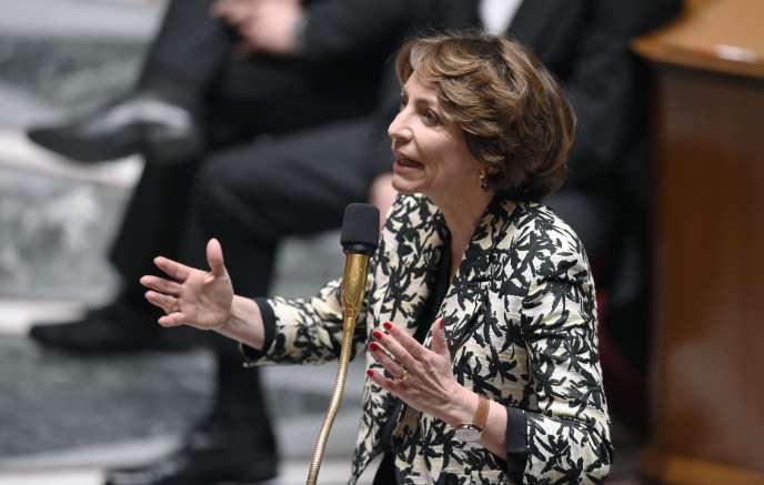 Marisol Touraine, ministre de la santé, mardi 7 avril à l'Assemblée nationale.