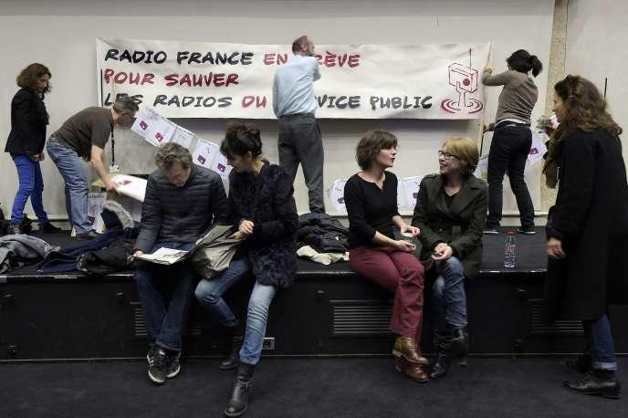 A la Maison de la radio, lors de l'assemblée générale du 7 avril