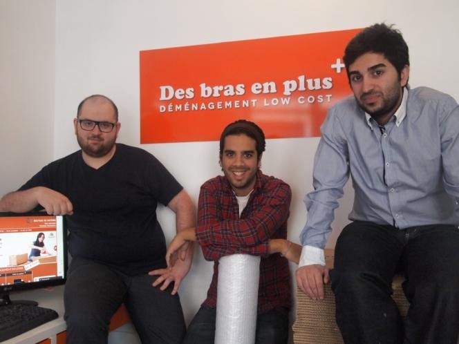 Farid Lahlou, entouré des deux autres fondateurs Massoud Ayati (à droite) et Zafar Baryali (à gauche).