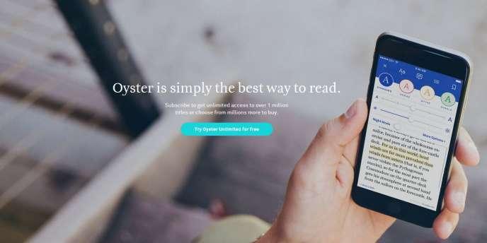 Capture du site d'Oyster Books.