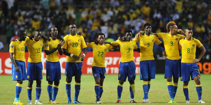 L'équipe du Gabon lors de la CAN 2012 à Libreville.