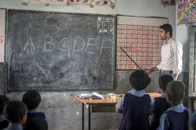 Une école dans l'Etat de l'Andhra Pradesh dans le sud de l'Inde.