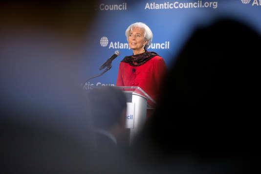 Christine Lagarde, le 9 avril 2015.