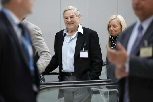 Georges Soros à Paris, le 9 avril 2015.