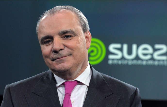 Le directeur général de Suez environnement, Jean-Louis Chaussade, le 12 mars, à Paris.