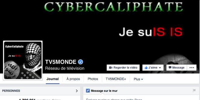 La page Facebook de TV5 Monde, le compte Twitter de TV5 Afrique et les antennes du groupe ont été attaquées par des pirates se réclamant du Cyber Caliphate.