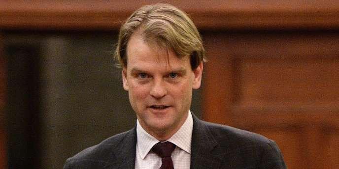 Le ministre de l'immigration canadien Chris Alexander, au parlement à Ottawa, le 31 mars.