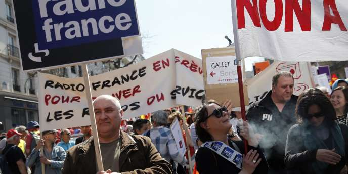 Les salariés de Radio France en grève.