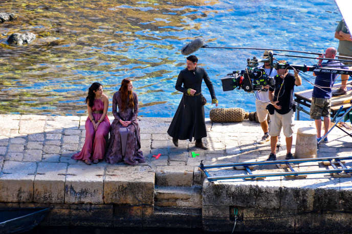 Tournage de la série américaine «Game of Thrones», à Dubrovnik (Croatie), en juin 2012.
