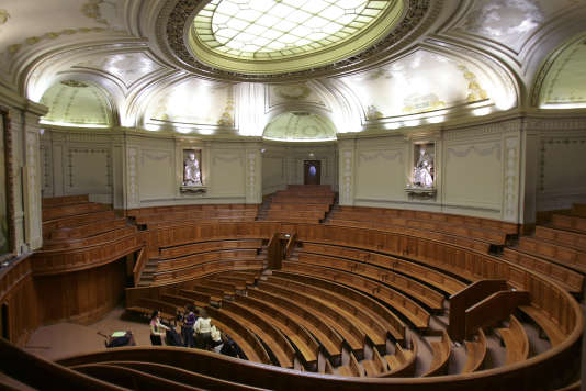 L'amphithéâtre Richelieu, à la Sorbonne, le 10 octobre 2006.