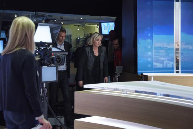 Marine Le Pen était l'invitée du «20 heures» deTF1, jeudi 9 avril.