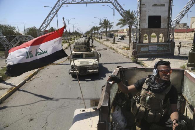 Le 2avril, des forces de sécurité irakiennes se déploient dans Tikrit, à 130km au nord de Bagdad.