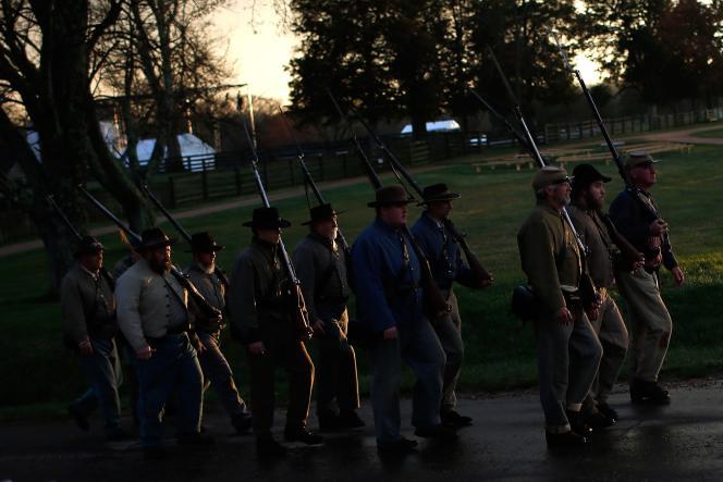 Reconstitution de la bataille d'Appomattox le 8 avril.