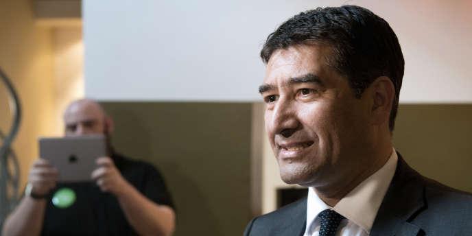 Le conseiller municipal de Marseille et ancien député européen EELV Karim Zéribi, le 11 avril 2014.