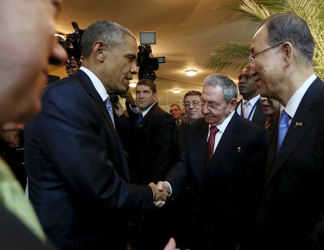 La rencontre entre le président américain et son homologue cubain était la première du genre en cinquante-quatre années de guerre froide.